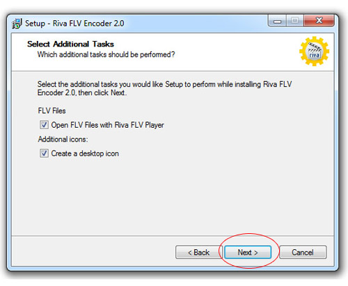 Инсталиране на Riva FLV Encoder