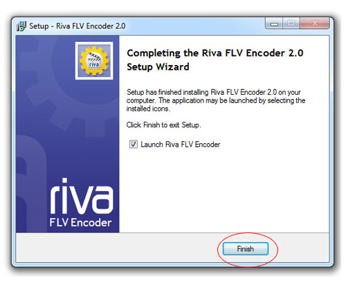 Стартиране на Riva FLV Encoder
