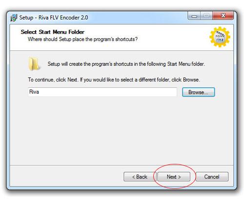 Инсталиране на Riva FLV Encoder - избор на shortcuts