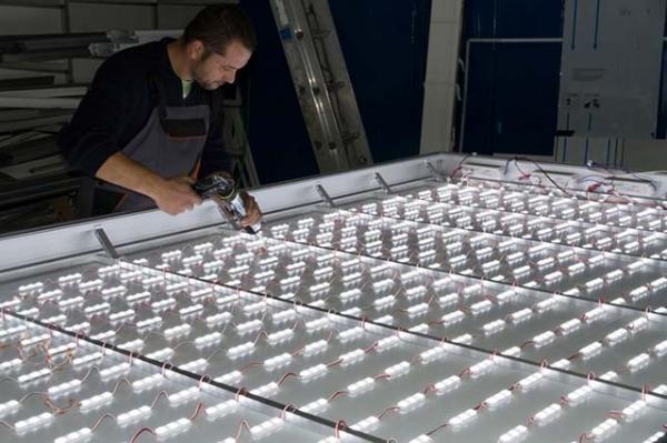 Oсветqяване на табелиа с LED модули