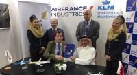 AFI KLM E&M сключи няколко договора за поддръжка и ремонт на авиоизложението в Дубай 2017