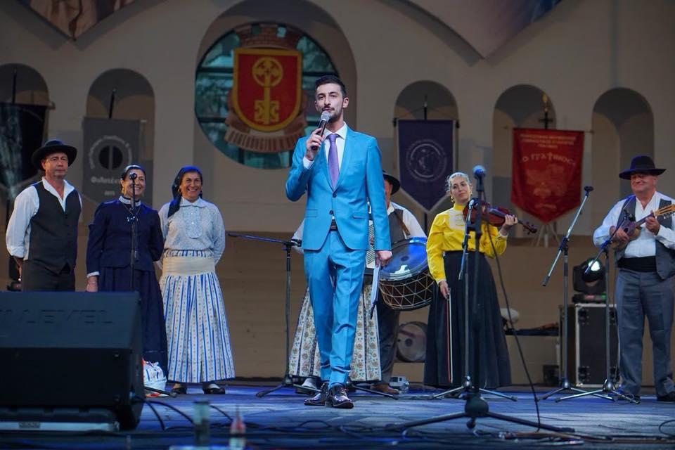 Теодор Тодоров - Тео като водещ на седмицата с тържества по повод празника на град Хасково