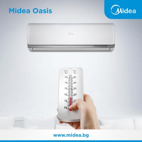 Посрещнете стенните климатици Midea Oasis!