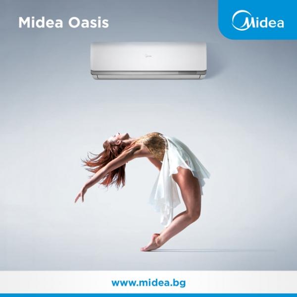 Представяме Ви стенните инверторни климатици Midea от серията Oasis.