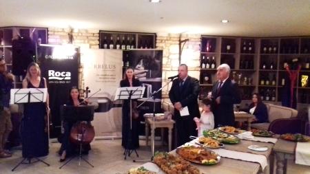 Дни на испанската култура и изкуство-Варна- Коктейлс изискани вина, вкусна храна и елегантен фон от класическа музика за официалните лица и гостите